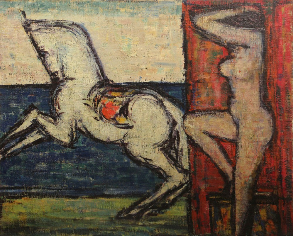 Oscar Barblan, Sensualità, Oil on canvas, 65 x 81 cm, ca. 1956-57