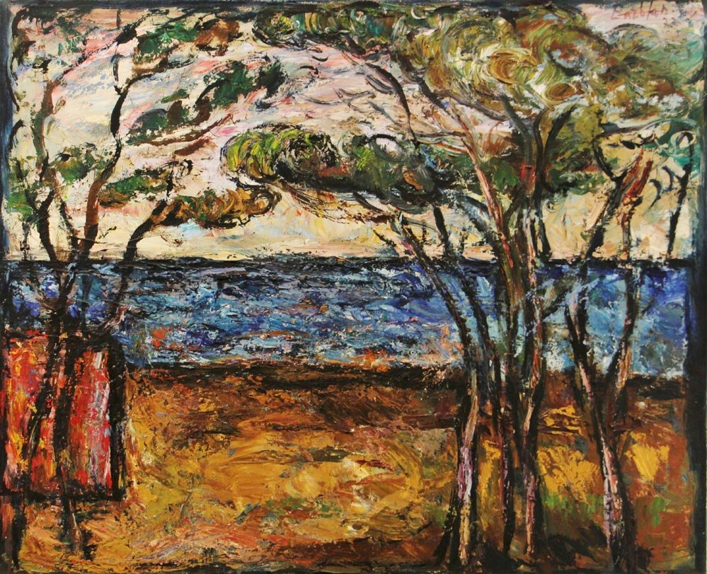 Oscar Barblan, Paesaggio toscano, Oil on canvas, 65 x 80 cm, 1977