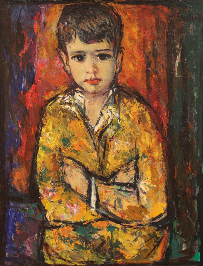Oscar Barblan, Pablito, Oil on canvas, 65 x 50 cm, 1962