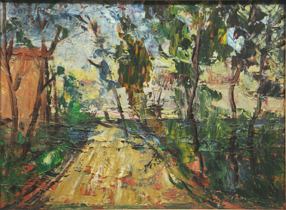 Oscar Barblan, Rapale, campagna di Grazia, Oil on canvas, 30 x 40 cm, 1983