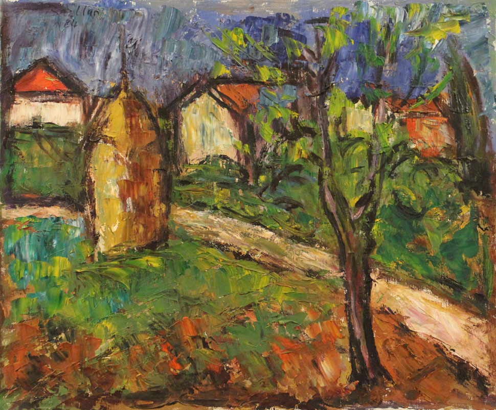 Oscar Barblan, Toscana, Oil on canvas, 50 x 60 cm, 1985