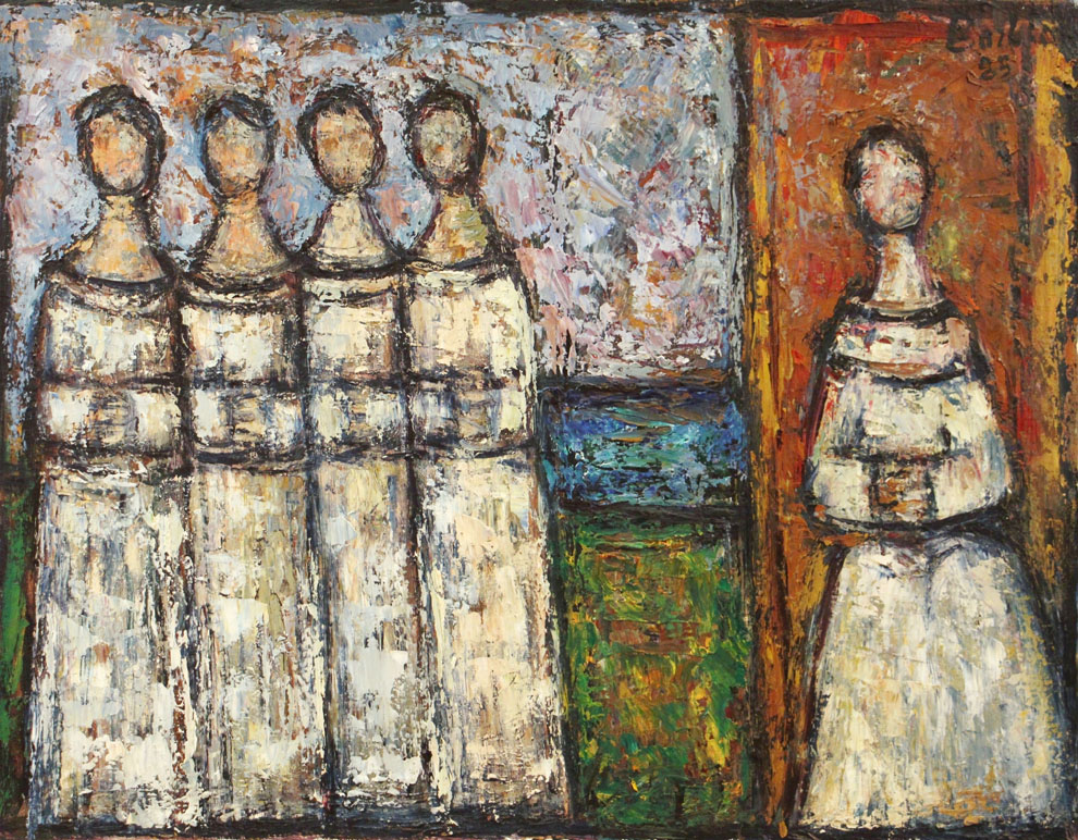 Oscar Barblan, Chierichetti, Oil on canvas, 54 x 69 cm, 1985