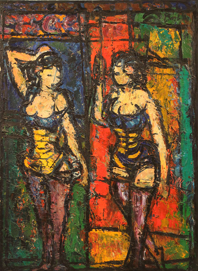 Oscar Barblan, Ballerine, Oil on canvas, 81 x 60 cm, 1962